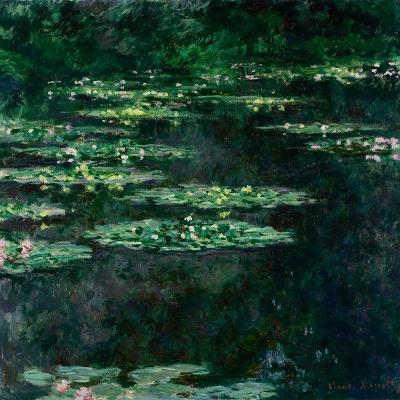 The Water Lilies (Les Nymph?a)-Claude Monet-Giclee Print