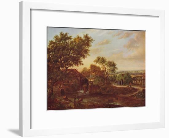'The Water Mill, Carshalton', 1830, (c1915)-Patrick Nasmyth-Framed Giclee Print