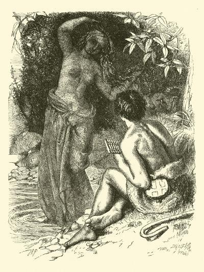 The Water Nymph Appearing to the Shepherd--Giclee Print