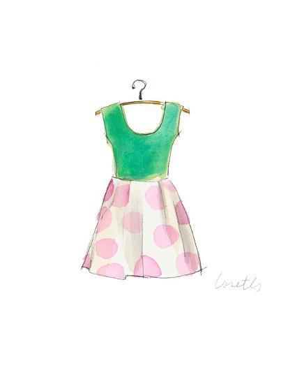 The Watercolor Dresses IV-Lanie Loreth-Art Print