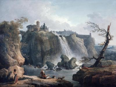 The Waterfall at Tivoli, 18Th/Early 19th Century-Hubert Robert-Giclee Print