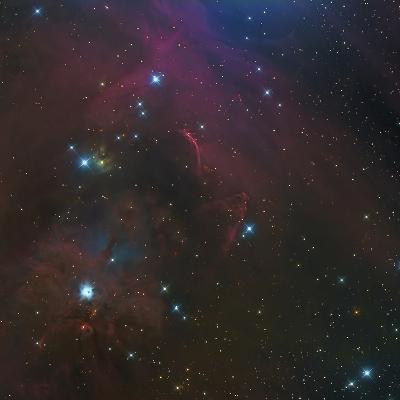 The Waterfall Nebula-Stocktrek Images-Photographic Print
