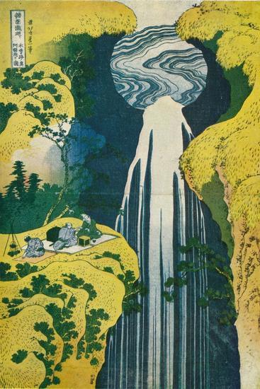 The Waterfall of Amida Behind the Kiso Road, C1832. (1925)-Katsushika Hokusai-Giclee Print