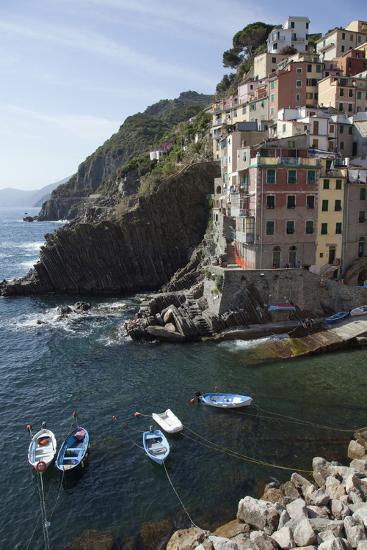 The Waterfront in Riomaggiore, One of Five Towns in the Cinque Terre-Scott S^ Warren-Photographic Print