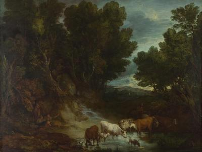 The Watering Place, before 1777-Thomas Gainsborough-Giclee Print