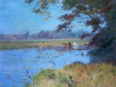 The Watering Pond, C1868-1917-Walter Clark-Giclee Print