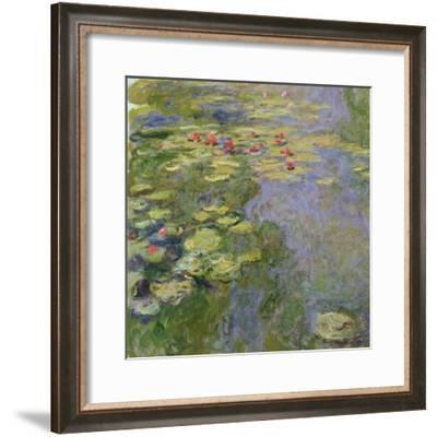 The Waterlily Pond, 1917-19-Claude Monet-Framed Giclee Print