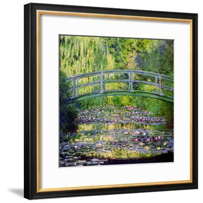 The Waterlily Pond with the Japanese Bridge, 1899-Claude Monet-Framed Premium Giclee Print