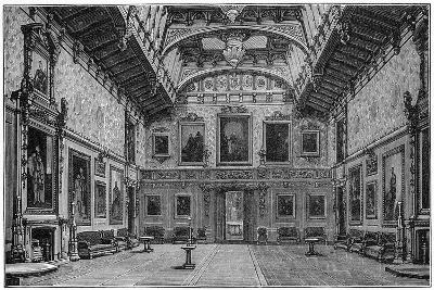The Waterloo Chamber, Windsor Castle, 1880-Robert Taylor Pritchett-Giclee Print