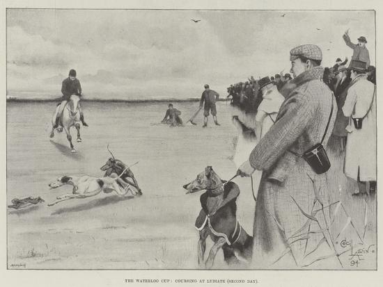 The Waterloo Cup, Coursing at Lydiate, Second Day-Cecil Aldin-Giclee Print
