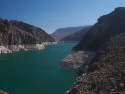 The Waters of Lake Mead Are Contained by the Hoover Dam-Heather Perry-Photographic Print