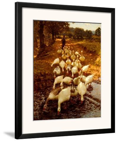 The Watersplash, c. 1899-Henry Herbert La Thangue-Framed Art Print