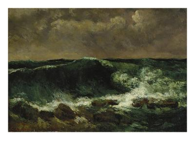 The Wave, about 1870-Gustave Courbet-Giclee Print