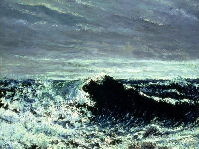 The Wave, C.1869-Gustave Courbet-Giclee Print