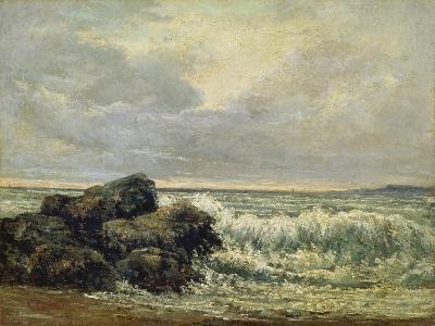 The Wave, Um 1870-Gustave Courbet-Giclee Print