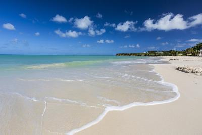 The Waves of the Caribbean Sea Crashing on the White Sandy Beach of Runaway Bay-Roberto Moiola-Photographic Print