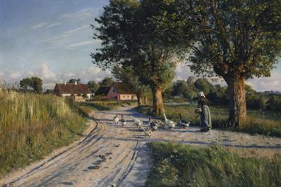 The Way Home, 1921-Peder Mork Monsted-Giclee Print