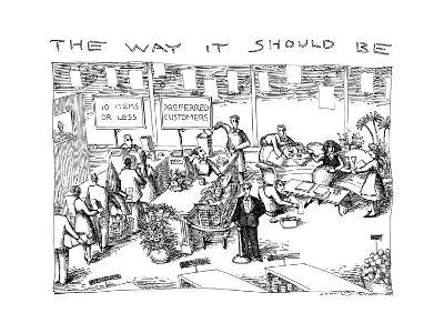 THE WAY IT SHOULD BE - New Yorker Cartoon-John O'brien-Premium Giclee Print
