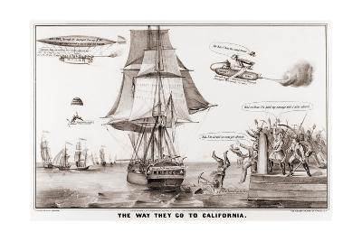 The Way They Go to California--Giclee Print