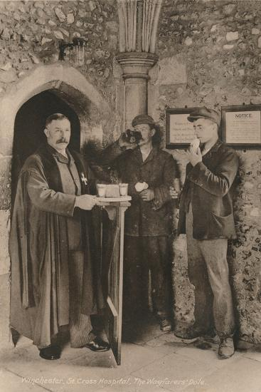 The Wayfarer's Dole, Hospital of St Cross, Winchester, Hampshire, early 20th century-Unknown-Photographic Print