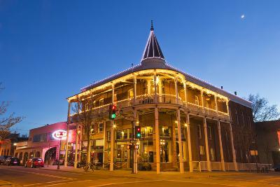 The Weatherford Hotel at Dusk in Historic Downtown Flagstaff, Arizona, USA-Chuck Haney-Photographic Print