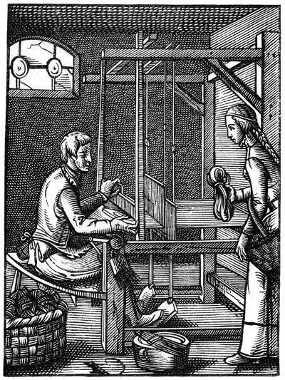The Weaver, 16th Century-Jost Amman-Giclee Print