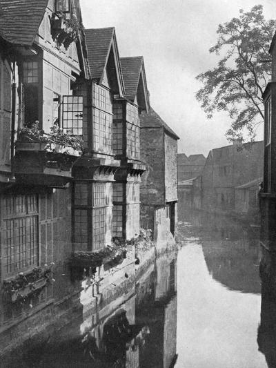 The Weavers' House by the River Stour, Canterbury, Kent, 1924-1926-HS Newcombe-Giclee Print