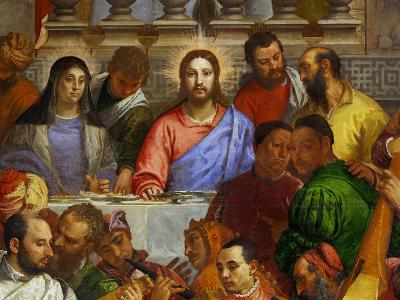 The Wedding at Cana, from the Benedictine Convent of San Giorgio Maggiore, Venice-Paolo Veronese-Giclee Print