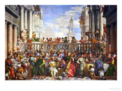 The Wedding at Cana (Post-Restoration)-Paolo Veronese-Giclee Print