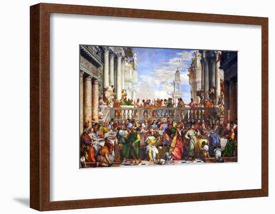 The Wedding at Cana (Post-Restoration)-Paolo Veronese-Framed Giclee Print