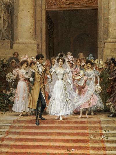 The Wedding, Church of St. Roch, Paris-Frederik Hendrik Kaemmerer-Giclee Print