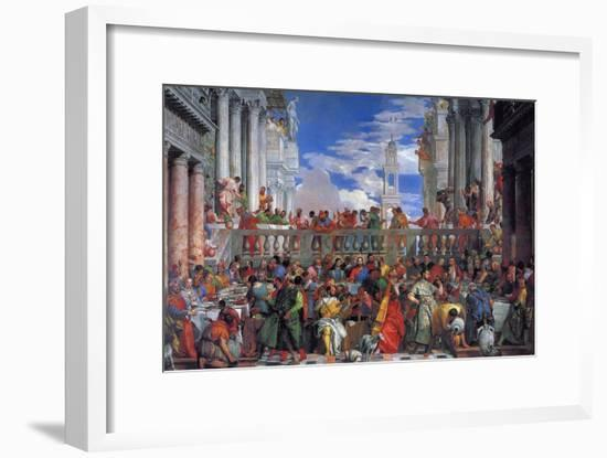 The Wedding Feast at Cana, 1563-Paolo Veronese-Framed Giclee Print