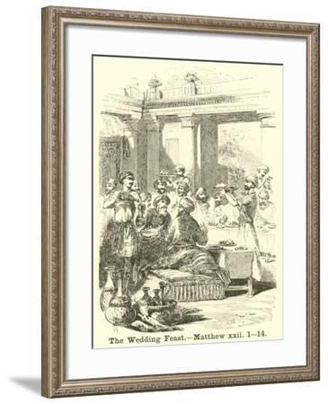 The Wedding Feast, Matthew, XXII, 1, 14--Framed Giclee Print