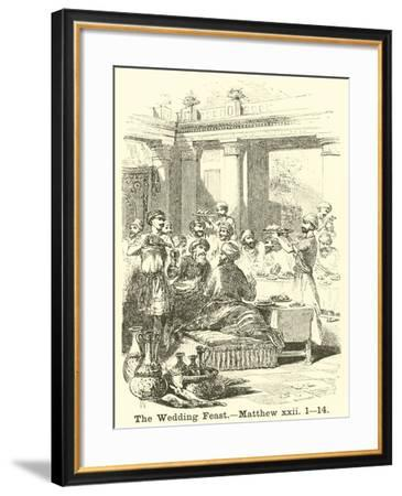 The Wedding Feast, Matthew, XXII, 1, 14--Framed Giclee Print
