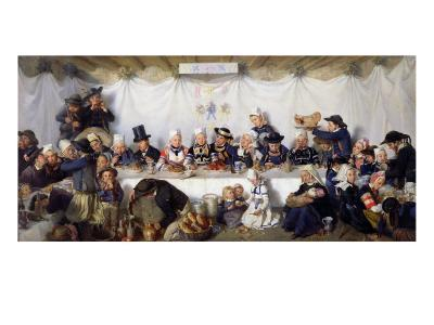 The Wedding Feast of Corentin Le Guerveur and Anne-Marie Kerinvel, 1880-Victor Marie Roussin-Giclee Print