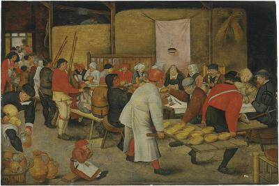 The Wedding Feast-Pieter Brueghel the Younger-Giclee Print