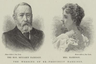 The Wedding of Ex-President Harrison--Giclee Print