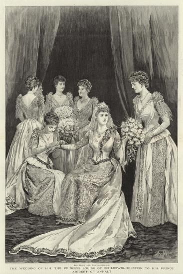 The Wedding of H H the Princess Louise of Schleswig-Holstein to H H Prince Aribert of Anhalt--Giclee Print
