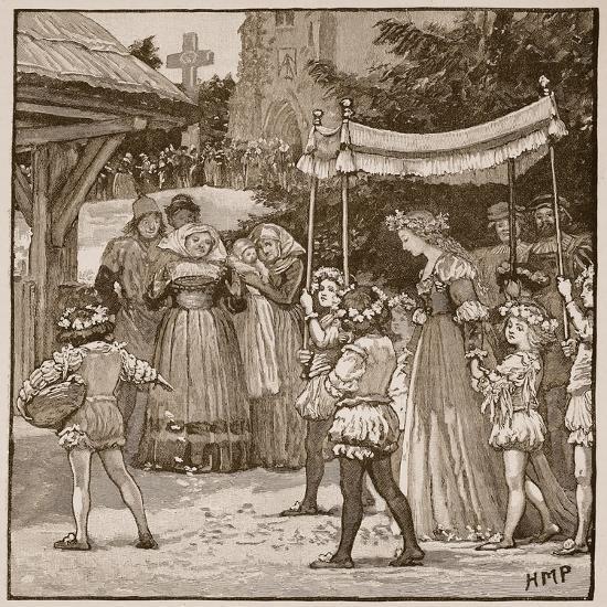 The Wedding of Jack of Newbury: the Bride's Procession-English School-Giclee Print