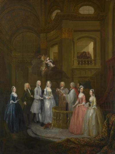 The Wedding of Stephen Beckingham and Mary Cox, 1729-William Hogarth-Giclee Print
