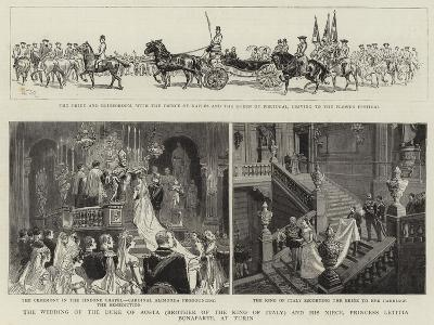 The Wedding of the Duke of Aosta (Brother of the King of Italy) and His Niece--Giclee Print