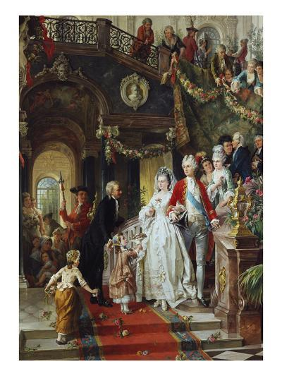 The Wedding Party-Carl Herpfer-Giclee Print
