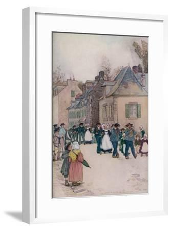 The Wedding Procession at Pont-Aven, Brittany--Framed Giclee Print