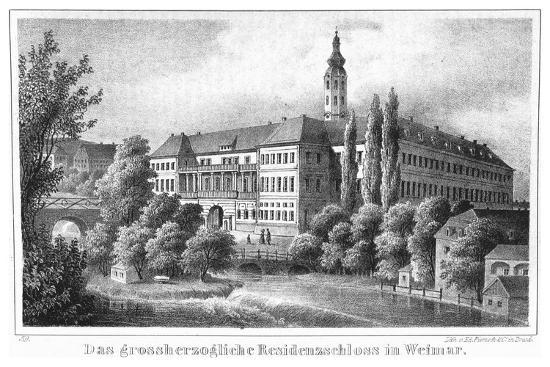The Weimar City Castle. From: Thüringen und der Harz.. by Friedrich von Sydow, 1839--Giclee Print