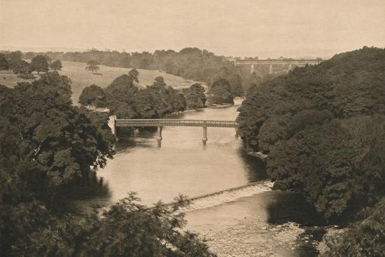 'The Weir Below Barnard Castle', 1902-Unknown-Photographic Print