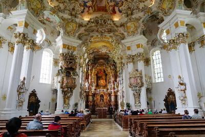 The Weiskirche (White Church), UNESCO World Heritage Site, Near Fussen, Bavaria, Germany, Europe-Robert Harding-Photographic Print