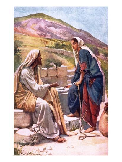 The Well of Sychar-Harold Copping-Giclee Print