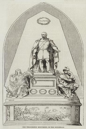 The Wellington Monument, in the Guildhall--Giclee Print