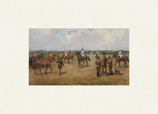 The Welsh Guard's Polo Team-Lionel Edwards-Premium Giclee Print