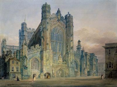 The West Front of Bath Abbey-J^ M^ W^ Turner-Giclee Print